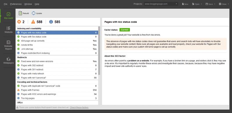 WebSite-Auditor-Blogging-Cage's